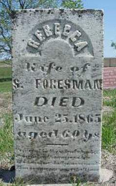 OAKS FORESMAN, REBECCA - Madison County, Iowa | REBECCA OAKS FORESMAN