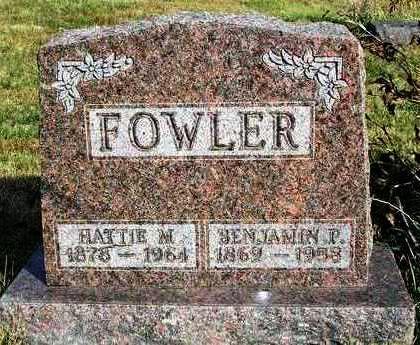 FOWLER, HATTIE M. - Madison County, Iowa   HATTIE M. FOWLER