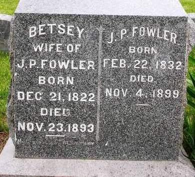 FOWLER, J. P. - Madison County, Iowa   J. P. FOWLER