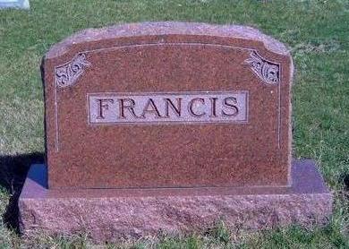 FRANCIS, FAMILY STONE - Madison County, Iowa | FAMILY STONE FRANCIS
