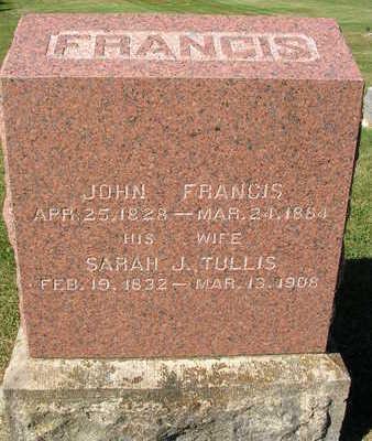FRANCIS, SARAH J. - Madison County, Iowa | SARAH J. FRANCIS