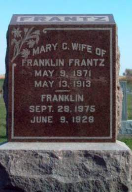 FRANTZ, FRANKLIN - Madison County, Iowa | FRANKLIN FRANTZ