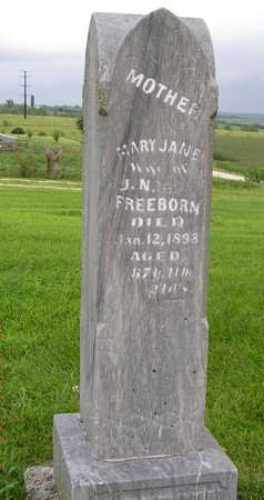 FREEBORN, MARY JANE - Madison County, Iowa | MARY JANE FREEBORN