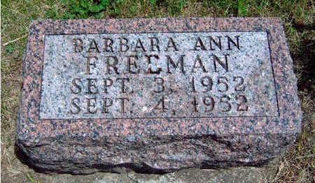 FREEMAN, BARBARA ANN - Madison County, Iowa   BARBARA ANN FREEMAN