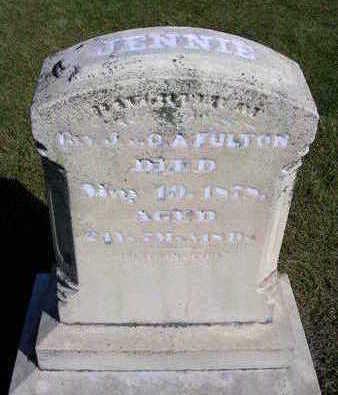 FULTON, JENNIE - Madison County, Iowa | JENNIE FULTON