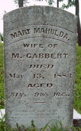 GABBERT, MARY MAHULDA - Madison County, Iowa   MARY MAHULDA GABBERT