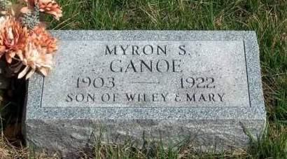 GANOE, MYRON STANLEY - Madison County, Iowa | MYRON STANLEY GANOE