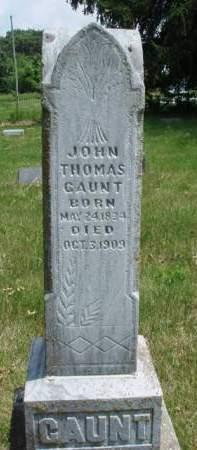 GAUNT, JOHN THOMAS - Madison County, Iowa | JOHN THOMAS GAUNT