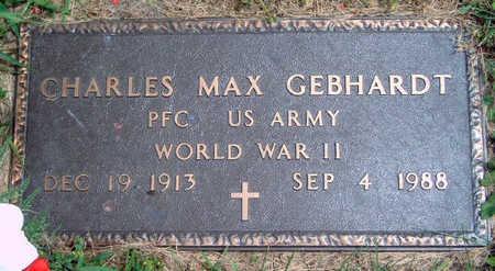 GEBHARDT, CHARLES MAX - Madison County, Iowa | CHARLES MAX GEBHARDT