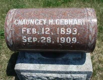GEBHART, CHAUNCEY H. - Madison County, Iowa   CHAUNCEY H. GEBHART