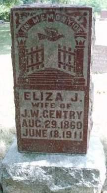 GENTRY, ELIZA JANE - Madison County, Iowa | ELIZA JANE GENTRY