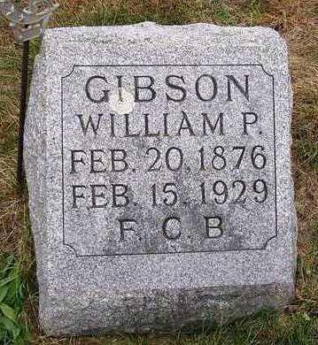 GIBSON, WILLIAM PORTER - Madison County, Iowa | WILLIAM PORTER GIBSON