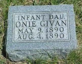 GIVAN, ONIE - Madison County, Iowa | ONIE GIVAN
