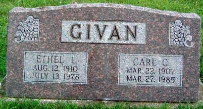 GIVAN, ETHEL E. LUELLA - Madison County, Iowa | ETHEL E. LUELLA GIVAN