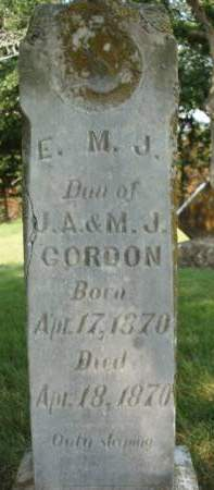 GORDON, ELEANOR M. J. - Madison County, Iowa | ELEANOR M. J. GORDON