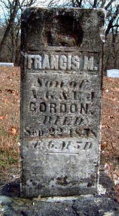 GORDON, FRANCIS M. - Madison County, Iowa | FRANCIS M. GORDON