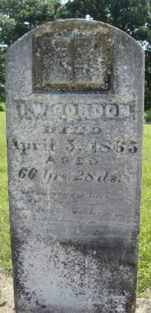 GORDON, IRVIN W. - Madison County, Iowa | IRVIN W. GORDON