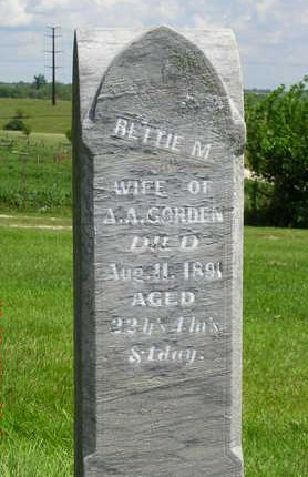 GORDEN, RETTIE MAY - Madison County, Iowa   RETTIE MAY GORDEN