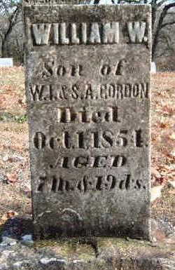 GORDON, WILLIAM W - Madison County, Iowa   WILLIAM W GORDON
