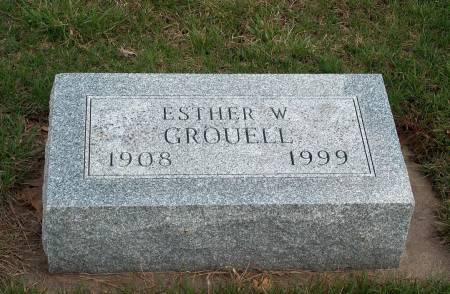 GROUELL, ESTHER W. - Madison County, Iowa | ESTHER W. GROUELL
