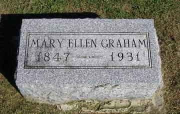 GRAHAM, MARY ELLEN - Madison County, Iowa   MARY ELLEN GRAHAM