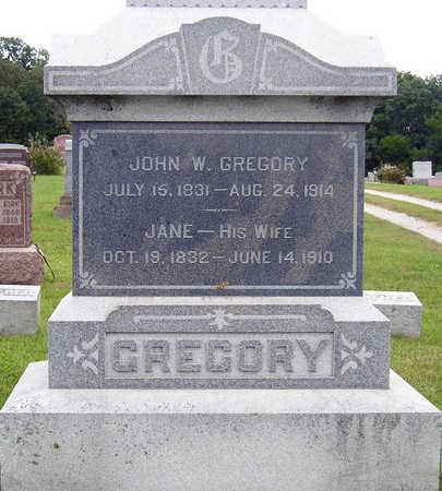 GREGORY, JOHN WESLEY - Madison County, Iowa | JOHN WESLEY GREGORY