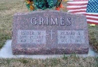 GRIMES, ESTHER MAXINE - Madison County, Iowa   ESTHER MAXINE GRIMES