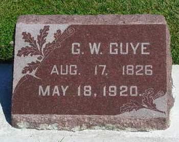 GUYE, GEORGE WASHINGTON - Madison County, Iowa | GEORGE WASHINGTON GUYE