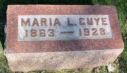 GUYE, MARIA L. - Madison County, Iowa | MARIA L. GUYE