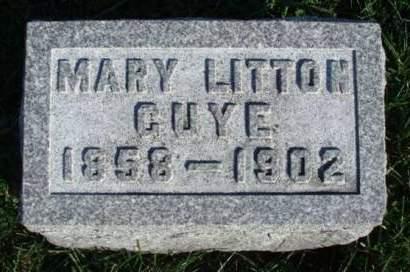 GUYE, MARY ELLEN - Madison County, Iowa | MARY ELLEN GUYE