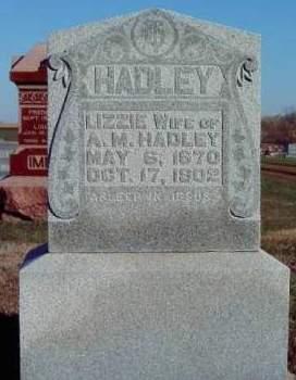 HADLEY, ELIZABETH - Madison County, Iowa   ELIZABETH HADLEY