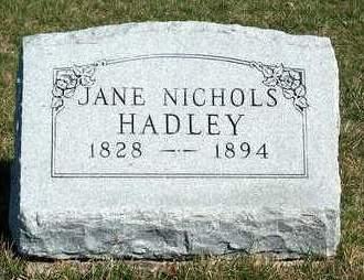 HADLEY, JANE - Madison County, Iowa   JANE HADLEY