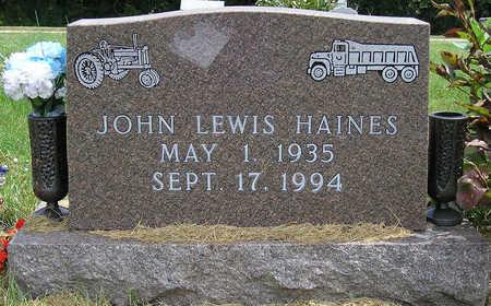 HAINES, JOHN LEWIS - Madison County, Iowa | JOHN LEWIS HAINES