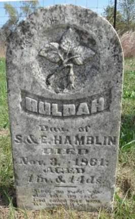 HAMBLIN, HULDAH - Madison County, Iowa   HULDAH HAMBLIN