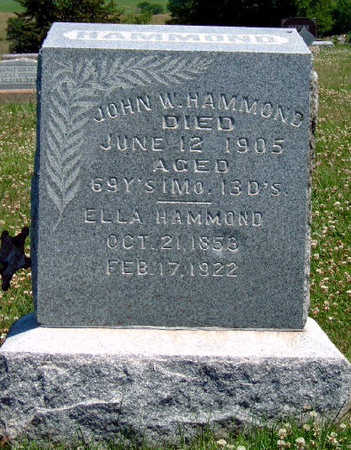 HAMMOND, ELLA MARY - Madison County, Iowa | ELLA MARY HAMMOND