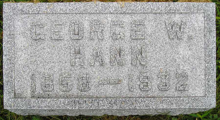 HANN, GEORGE WASHINGTON - Madison County, Iowa | GEORGE WASHINGTON HANN