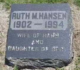 HANSEN, RUTH MINA - Madison County, Iowa | RUTH MINA HANSEN