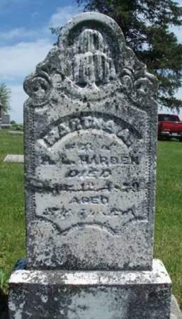 HARDEN, MARTHA A. - Madison County, Iowa | MARTHA A. HARDEN