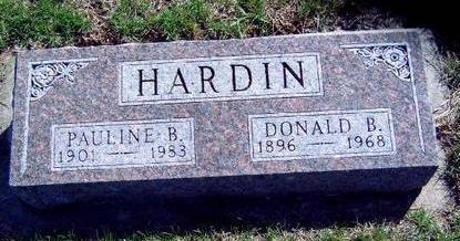 HARDIN, DONALD BRYAN - Madison County, Iowa   DONALD BRYAN HARDIN