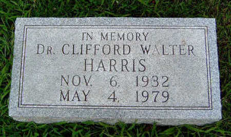 HARRIS, CLIFFORD WALTER, DR. - Madison County, Iowa | CLIFFORD WALTER, DR. HARRIS
