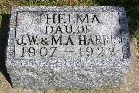 HARRIS, MARY THELMA - Madison County, Iowa | MARY THELMA HARRIS
