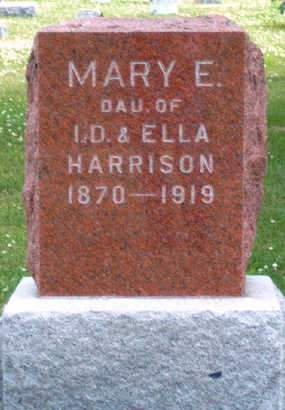 HARRISON, MARY EMMA - Madison County, Iowa | MARY EMMA HARRISON