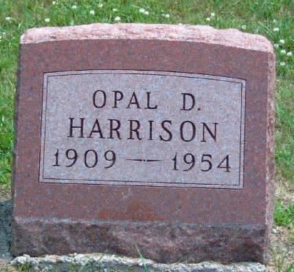 HARRISON, OPAL DARLENE - Madison County, Iowa   OPAL DARLENE HARRISON