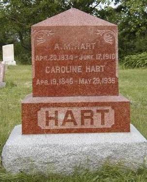 HART, CAROLINE MATILDA - Madison County, Iowa | CAROLINE MATILDA HART