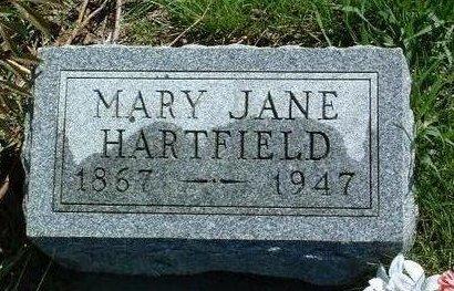 HARTFIELD, MARY JANE - Madison County, Iowa | MARY JANE HARTFIELD
