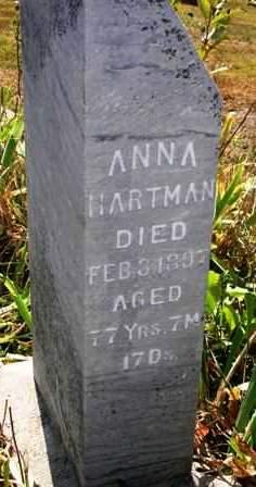 HARTMAN, ANNA - Madison County, Iowa | ANNA HARTMAN