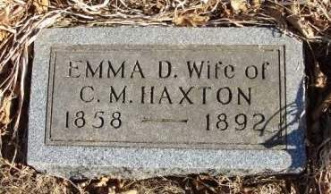 HAXTON, EMMEZETA DEMERIS (EMMA) - Madison County, Iowa   EMMEZETA DEMERIS (EMMA) HAXTON