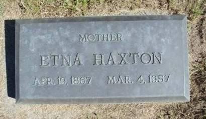 HAXTON, ETNA 'ELLIE' - Madison County, Iowa   ETNA 'ELLIE' HAXTON