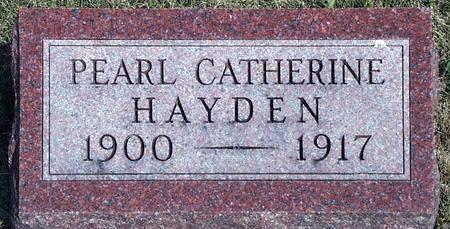 HAYDEN, PEARL CATHERINE - Madison County, Iowa   PEARL CATHERINE HAYDEN