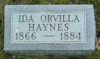 HAYNES, IDA ORVILLA - Madison County, Iowa | IDA ORVILLA HAYNES